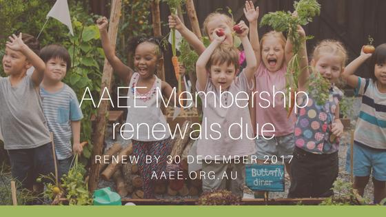 AAEE Membership renewals due 30 December